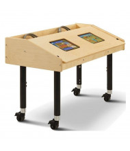 "Jonti-Craft 42"" W x 21"" D Dual Tablet Mobile Table"