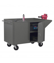 Durham Steel Mobile Cabinet Workbenches 2000 lb Capacity (Vice not included)