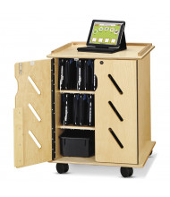 Jonti-Craft 32 Tablet and Laptop Charging Cart with Cubbie-Trays