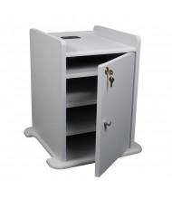 Balt 34466 Locking Cabinet for Xtra Long Presentation Cart, Grey