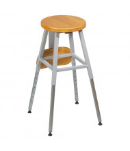 Balt Wood Lab Stool 34419R (Shown with Optional Stool Back Add-on)