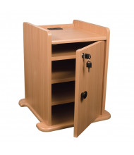 Balt 34459 Locking Cabinet for Presentation Cabinet, Teak