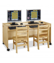 "Jonti-Craft Enterprise 48"" W x 26"" D Computer Desk (Computers and chairs not included)"