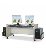 "Jonti-Craft Rainbow Accents 48"" W x 26"" D Enterprise Double Computer Desk (Shown in Red)"