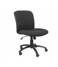 Safco Uber 3491BL Big & Tall 500 lb. Mid-Back Black Fabric Task Chair
