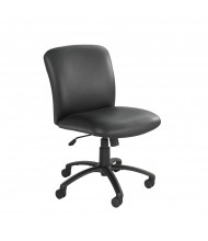 Safco Uber 3491BV Big & Tall 500 lb. Mid-Back Black Vinyl Task Chair