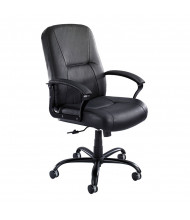 Safco Serenity 3500BL Big & Tall 500 lb. Leather High-Back Executive Chair