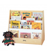 Jonti-Craft Double Sided Pick-a-Book Display Stand (example of use)
