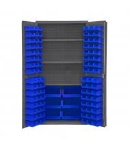 Durham Steel Bin Storage Cabinets, Hook-On Bins (Shown in Blue)