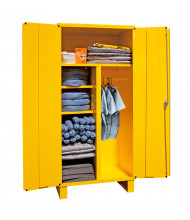 """Durham Steel 36"""" W x 24"""" D x 78"""" H Spill Control Cabinet, Yellow (Materials inside not included)"""