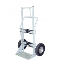 "Justrite 1000 lb Cryogenic Single Cylinder Hand Truck, 16"" Pneumatic"