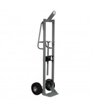 "Justrite 300 lb Hoist Ring Single Cylinder Hand Truck, 10.5"" Pneumatic"