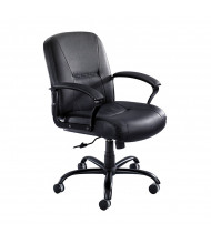 Safco Serenity 3501BL Big & Tall 500 lb. Leather Mid-Back Executive Chair