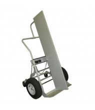 "Justrite 1000 lb Firewall Double Cylinder Hand Truck, 16"" Pneumatic & Rear Casters"