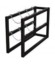 Justrite 1x4 4-Cylinder Barricade Storage Rack