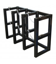 Justrite 3-Wide Cylinder Barricade Storage Racks (3 cylinder model shown)