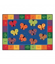 Carpets for Kids 123 ABC Butterfly Fun Classroom Rug