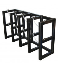 Justrite 4-Wide Cylinder Barricade Storage Racks (Shown with 4 cylinder capacity)