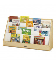 "Jonti-Craft Flushback 48"" W Extra Wide Pick-a-Book Display Stand (example of use)"