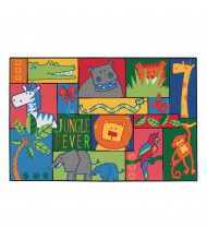 Carpets for Kids Jungle Fever Rectangle Classroom Rug