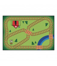 Carpets for Kids Railroad Playtime Rectangle Classroom Rug
