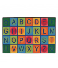 Carpets for Kids Simple Alphabet Blocks Rectangle Classroom Rug