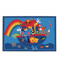 Carpets for Kids Noah Animals Rectangle Classroom Rug