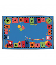 Carpets for Kids Alphabet Fun Train Rectangle Classroom Rug