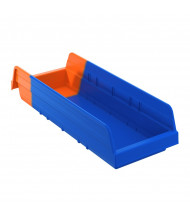 Akro-Mils Indicator Plastic Storage Bins in Blue/Orange