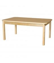 "Wood Designs 60"" W x 36"" D High Pressure Laminate Elementary School Tables"