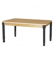 "Wood Designs 60"" W x 36"" D Adjustable High Pressure Laminate Elementary School Table (Shown with 18"" - 29"" Legs)"
