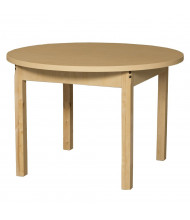 "Wood Designs 36"" D Round High Pressure Laminate Elementary School Tables"