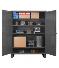 "Durham Steel 24"" D 14-Gauge Storage Cabinets (4 Shelf Model Shown)"