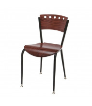 KFI Seating 3818A Wood Mid-Back Cafe Chair (Light Mahogany)