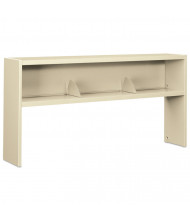 "HON 38000 Series 386572NL 72"" W Stack-On Open Shelf Hutch, Putty"