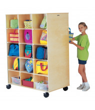 Jonti-Craft Big Twin 30-Cubbie Mobile Classroom Storage Unit