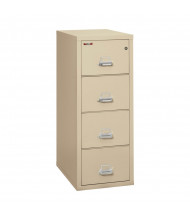 "FireKing 4-Drawer 31"" Deep 1-Hour Rated Fireproof File Cabinet, Letter - Shown in Parchment"