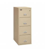 "FireKing 4-Drawer 31"" Deep 2-Hour Rated Fireproof File Cabinet, Letter - Shown in Parchment"