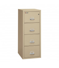 "FireKing 4-Drawer 25"" Deep 1-Hour Rated Fireproof File Cabinet, Legal - Shown in Parchment"
