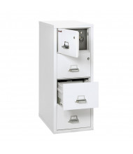 "FireKing Safe-In-A-File 4-Drawer 31"" Deep 1-Hour Rated Fireproof File Cabinet, Legal (Shown in Arctic White)"