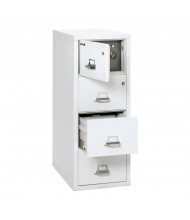 """FireKing Safe-In-A-File 4-Drawer 31"""" Deep 1-Hour Rated Fireproof File Cabinet, Legal - Arctic White"""