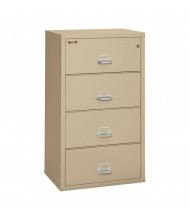 "FireKing 4-Drawer 31"" Wide 1-Hour Rated Lateral Fireproof File Cabinet - Shown in Parchment"