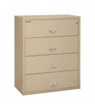 "FireKing 4-Drawer 44"" Wide 1-Hour Rated Lateral Fireproof File Cabinet - Shown in Parchment"