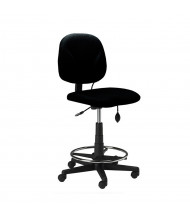 Mayline Comfort 4005AG Fabric Task Stool (Shown in Black)