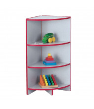 Jonti-Craft Rainbow Accents Super-Sized Outside Corner Classroom Storage (in red, example of use)