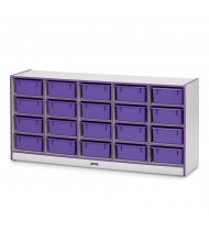 Jonti-Craft Rainbow Accents 20 Tub Mobile Cubbie Classroom Storage (in purple, tubs sold separately)