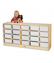 Jonti-Craft 20 Tub Mobile Classroom Storage with Clear Tubs