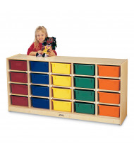 Jonti-Craft 20 Tub Mobile Classroom Storage with Colored Tubs