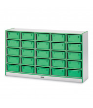 Jonti-Craft Rainbow Accents 25 Tub Mobile Cubbie Classroom Storage (in green, tubs sold separately)