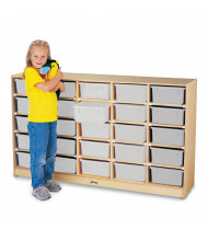 Jonti-Craft 25 Tub Mobile Classroom Storage with Clear Tubs